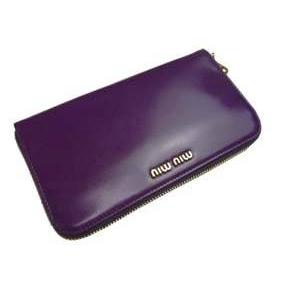 MIUMIU(ミュウミュウ) 5M0506 276 CICLAMINO パープル 財布 札入れ