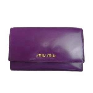 MIUMIU(ミュウミュウ) 5M1097 276 CICLAMINO パープル 財布 札入れ