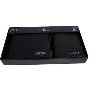 NAUTICA(ノーティカ) 6195 01 BK 2つ折り財布 名刺入れ セット