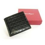 Salvatore Ferragamo(サルヴァトーレ フェラガモ) 66-3555 BLACK メンズ 財布 (コインケース付き)