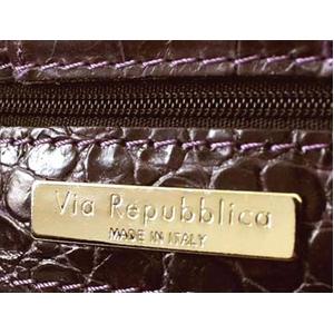 Via Repubblica(ヴィア リパブリカ) 8981 LACCA VIOLA ショルダーハンドバッグ ダークパープル