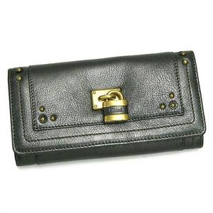 Chloe(クロエ) PADDINGTON8E P041 GUNMETAL 長財布