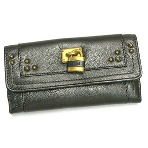 Chloe(クロエ) PADDINGTON8E P042 GUNMETAL 長財布