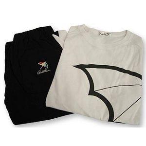 Arnold Palmer(アーノルドパーマー) APJ-03 Tシャツ上下セット ホワイト×ブラック M