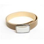 Dolce&Gabbana(ドルチェ&ガッバーナ) BC2482 A6321 80004ロ ゴプレートバックル レザーベルト 85cm ベージュ 85cm