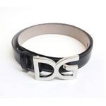 Dolce&Gabbana(ドルチェ&ガッバーナ) BC2492 A6168 80999 ロゴプレートバックル レザーベルト 85cm