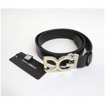 Dolce&Gabbana(ドルチェ&ガッバーナ) BC2504 A6333 80999 ロゴプレートバックル レザーベルト