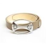 Dolce&Gabbana(ドルチェ&ガッバーナ) BC2546 A6321 80004 ロゴプレートバックル レザーベルト 85cm