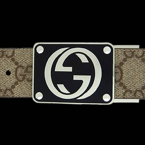Gucci(グッチ) BE-GUC-A0008154633-F06ZS ベルト ベージュ×ブラウン/シルバー BExBR/Silver