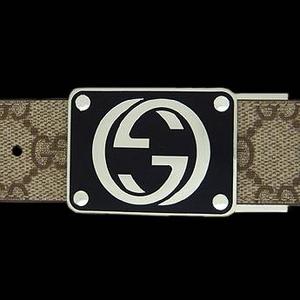 Gucci(グッチ) BE-GUC-A0015154633-F06ZS ベルト ベージュ×ブラウン/シルバー BExBR/Silver