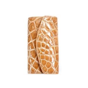 クロコダイル 6連キーケースCROCODILE 5859 beige