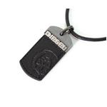 DIESEL(ディーゼル) 2009新作 SS新作 ドッグタグ ネックレス DX0005040 ブラックレザー