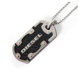 DIESEL(ディーゼル) 2009新作 SS新作 ネックレスDX0119040 ブラック×シルバー