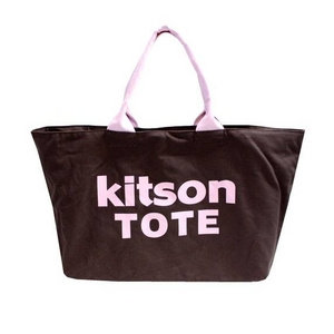 KITSON(キットソン) 3138 ショッピングトートバッグ キャンバス ブラウン×ピンク