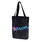 KITSON(キットソン) KHB0166 ロゴ ショッピングエコ トートバッグ ブラック×ブルー
