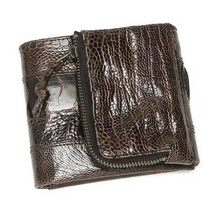 Nicola Ferri(ニコラフェリー) NEW NICOLAKOHMZZ01B casual wallet DBR 3つ折り小銭入れ付き財布