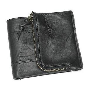 Nicola Ferri(ニコラフェリー) NEW NICOLAKOHMZZ01 casual wallet BK 3つ折り小銭入れ付き財布