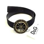 Dolce&Gabbana(ドルチェ&ガッバーナ) OD0FF9 80819 900 ロゴ プレートバックルレザーベルト 85cm BLACK