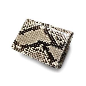 PYTHON革 cardcase04 パイソン(ニシキヘビ革) 名刺入れ【MADE IN JAPAN】