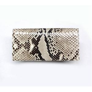 PYTHON革 wallet07 パイソン(ニシキヘビ革) 束入れ 小銭入付き (中牛) 【MADE IN JAPAN】