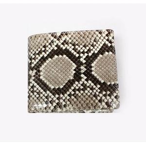 PYTHON革 wallet09 パイソン(ニシキヘビ革) 束入れ 小銭入れ付 (中牛) 【MADE IN JAPAN】
