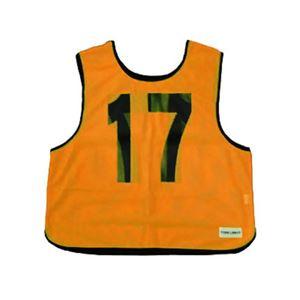 メッシュベスト(11-20) 蛍光オレンジ B-7692V