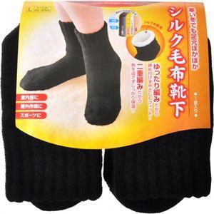シルク毛布靴下 L