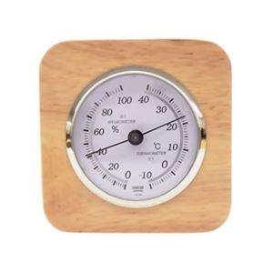 クレセル 天然木枠 温度計・湿度計 CR-620