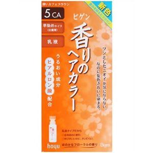ビゲン 香りのヘアカラー 乳液 5CA(深いカフェブラウン) 【4セット】
