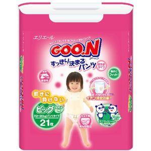 グーン すっきり決まるパンツ BIGサイズ 女の子 21枚 【9セット】