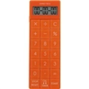 ドリテック 電卓付長時間タイマー オレンジ CL-116OR 【2セット】