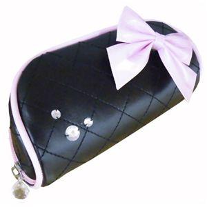 リボン メガネケース ブラック 【2セット】