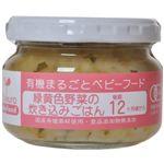 有機まるごとベビーフード 緑黄色野菜の炊き込みごはん 100g(後期12ヶ月頃から) 【5セット】