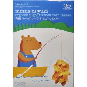 (まとめ買い)日食 minnaniyuki 有機コーンフレーク シュガーフロスト 215g×9セット