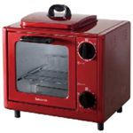 コイズミ オーブントースター KOS-0700/R(レッド)