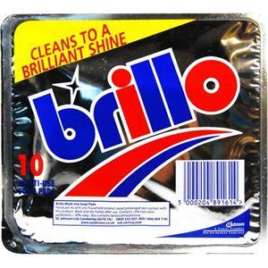 UK brillo(ブリロ) 石鹸付き万能たわし 10P 【6セット】