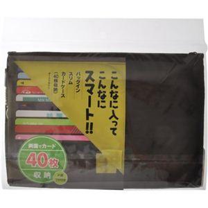 バッグインスリムカードケース ダークブラウン 40枚収納 【2セット】