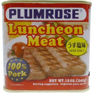 (まとめ買い)プラムローズ ポークランチョンミート うす塩味 340g×6セット