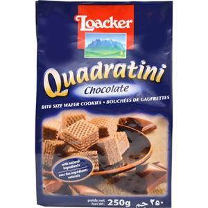 (まとめ買い)ローカー クワドラティーニ チョコレート チョコレートクリームクリスピーウエハース 250g×8セット