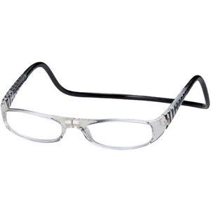 老眼鏡クリックユーロ(clic euro) ブラック&クリアー +2.0