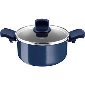 ティファール グランブルー・プレミア 両手鍋 シチューパン ブルー 20cm D55144