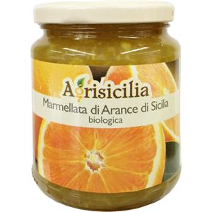(まとめ買い)アグリシチリア オーガニックマーマレード シチリアンオレンジ 360g×5セット