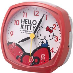 (まとめ買い)リズム時計 キャラクタークロック ハローキティ 赤 4RA478-M01×6セット
