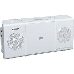 (まとめ買い)東芝 CDラジオ ホワイト TY-C24(W)×2セット