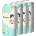 【ケース販売】パンパース はじめての肌へのいちばん テープ スーパージャンボ Mサイズ 48枚×4パック (192枚入り)