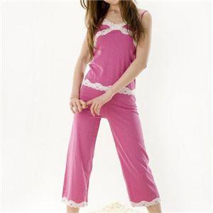 寝ながらシェイプボディパジャマ ピンク2点セット(ポーチ付)