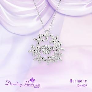 クロスフォーDancing Heart(ダンシングハート) DH-009 【Harmony】 ダイヤモンドペンダント/ネックレス