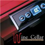 10本収納ワインセラー メタリックレッド