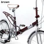 Heaven's 20インチ折りたたみ自転車 ブラウン