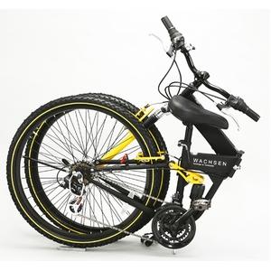WACHSEN 26インチ 折畳マウンテンバイク 18段変速 ブラック/イエロー